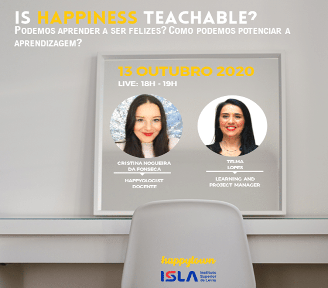 Webinar – Is happiness teachable?