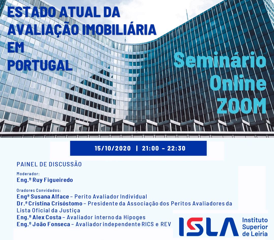 Webinar – Estado Atual da Avaliação Imobiliária em Portugal